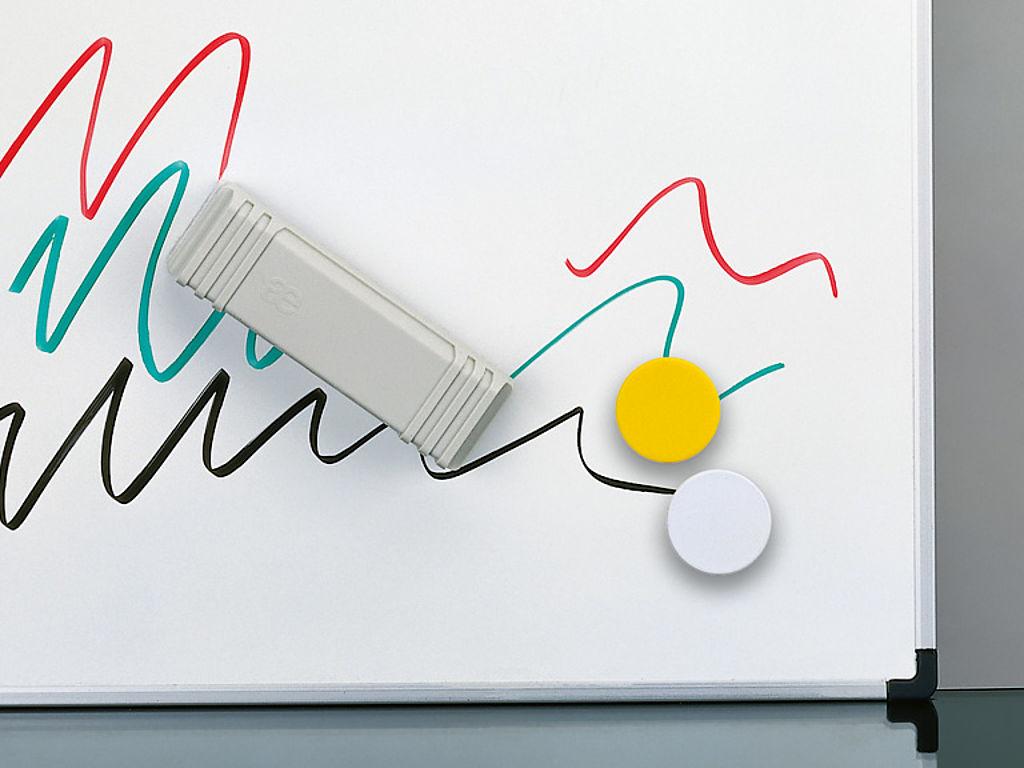 Bild: Tafel Board mit Stahlemaille Weiss