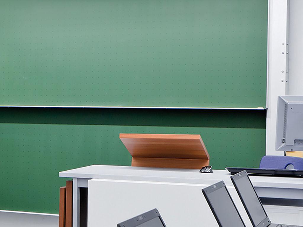 Bild: Tafel Board mit Stahlemaille Grün/Anthrazit