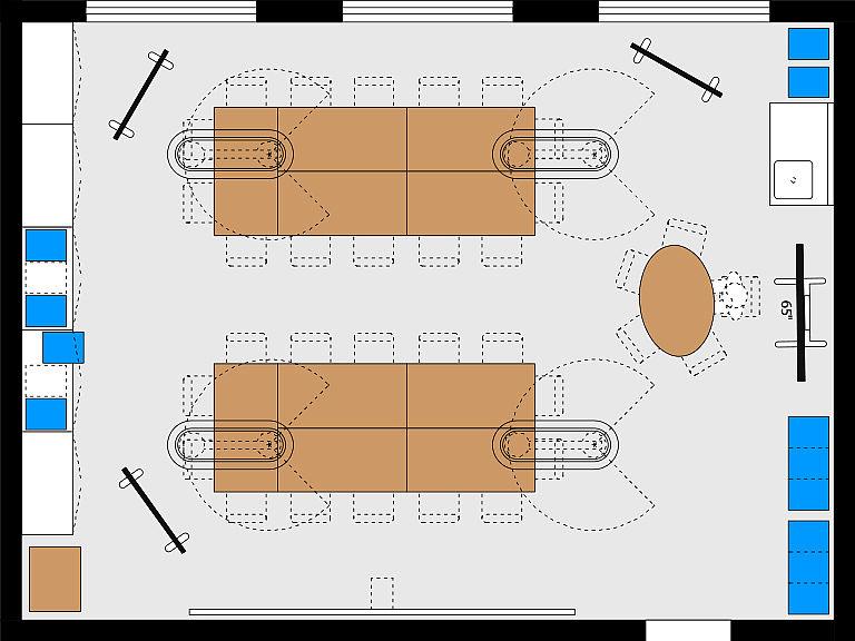 Bild: Planungsbeispiel Makerspace im MINT-Raum, Großgruppen