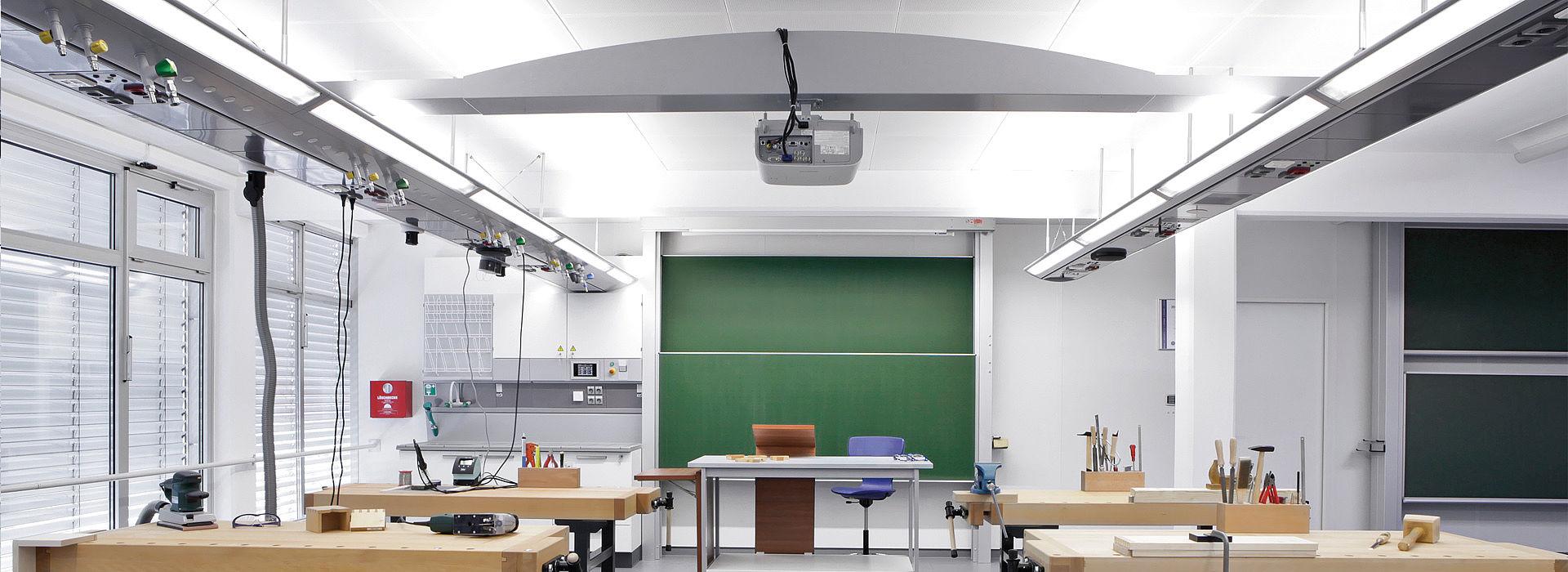 Bild: Medienflügel in der Werkstatt