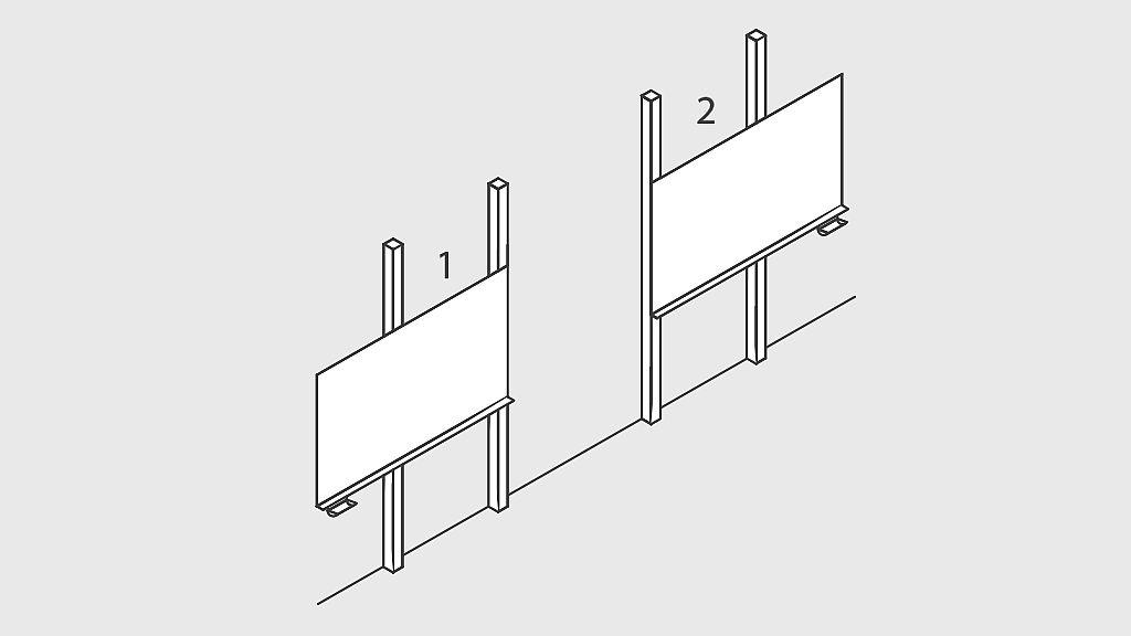 Bild: Tricom-Pylonen-Schiebetafel
