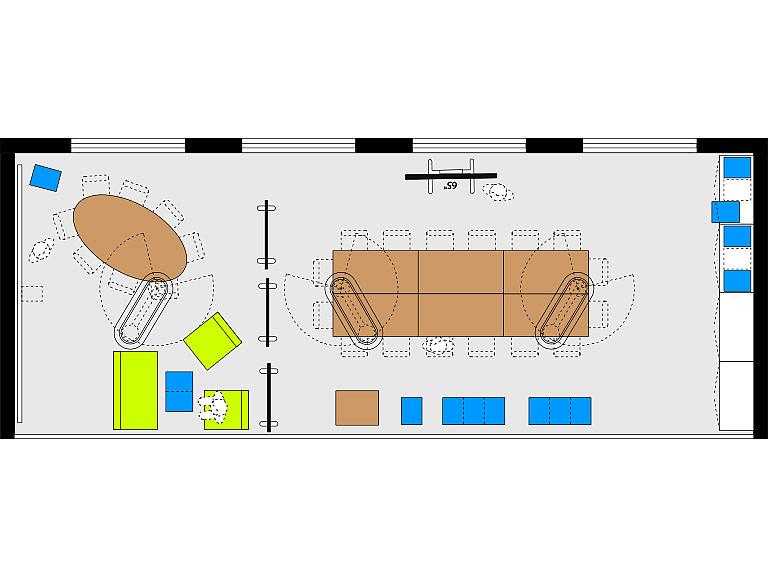 Bild: Planungsbeispiel Makerspace in der Bibliothek, Großgruppe