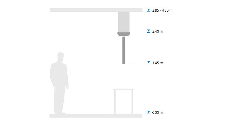 Bild: Größenangaben zum Powerlift One