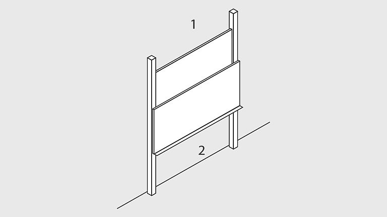 Bild: Pylonen-Doppelschiebetafel iD