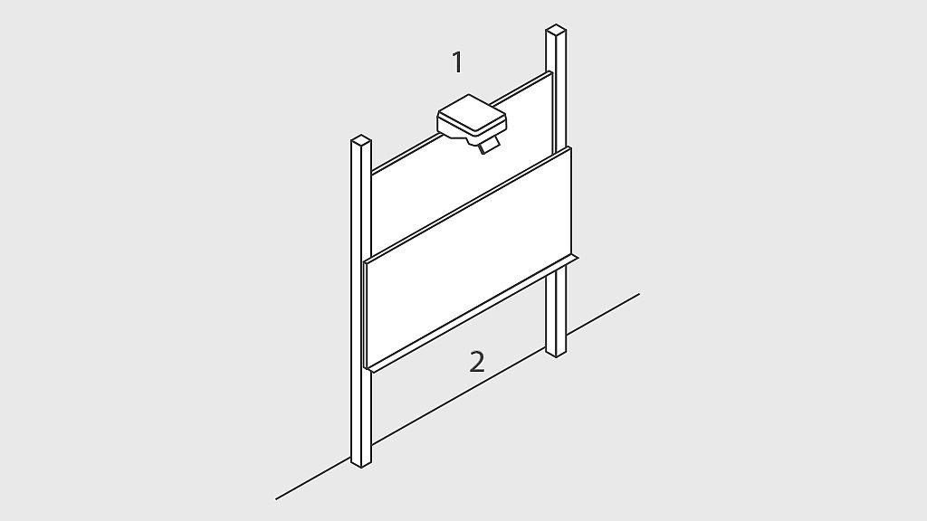 Bild: Pylonen-Doppelschiebetafel iB