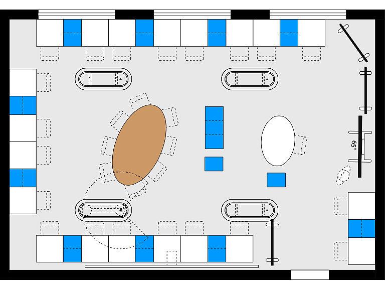 Bild: Planungsbeispiel Makerspace im Lernraum, Einzelarbeit