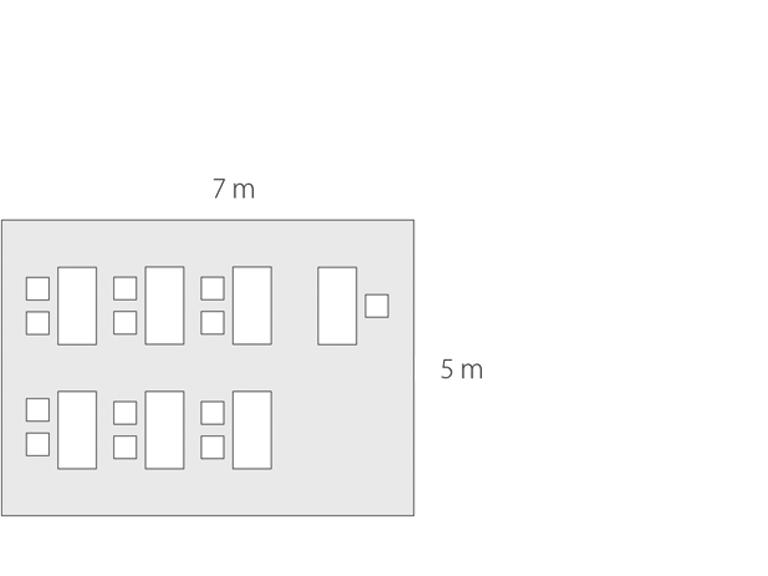 Bild: Raum mit 35 qm für 12 Personen