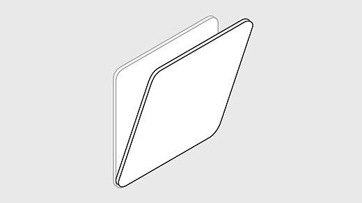 Bild: Projektionsfläche neigbar