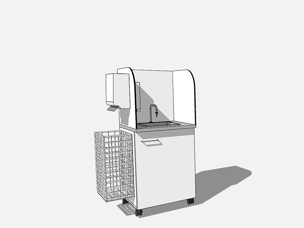 Bild: Mobile Waschstation