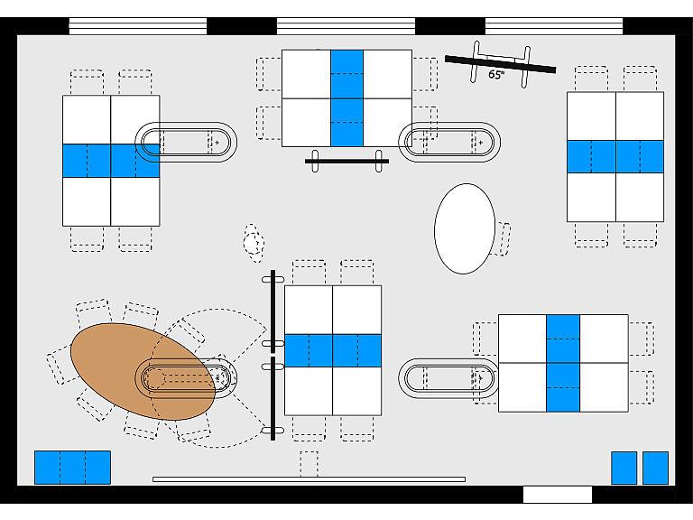 Bild: Planungsbeispiel Makerspace im Lernraum, Kleingruppen