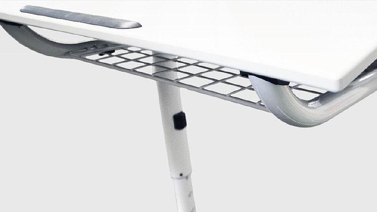 Bild: Praktische Stahlkorbablage
