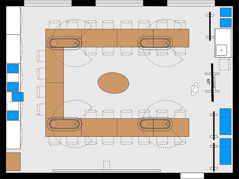 Bild: Planungsbeispiel Makerspace im MINT-Raum, Seminar
