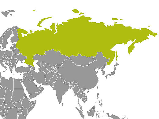Map with Russia