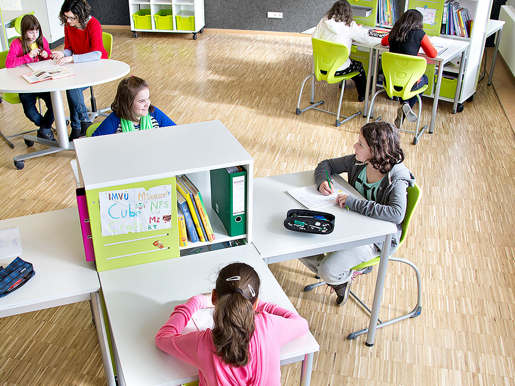 Image: Learning work stations in a classroom