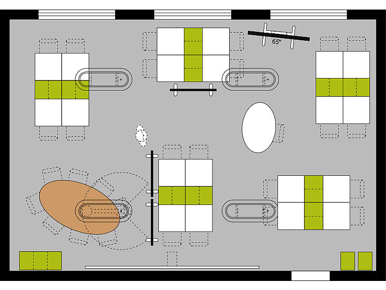 Bild: Maker Space im Lernraum, Kleingruppen