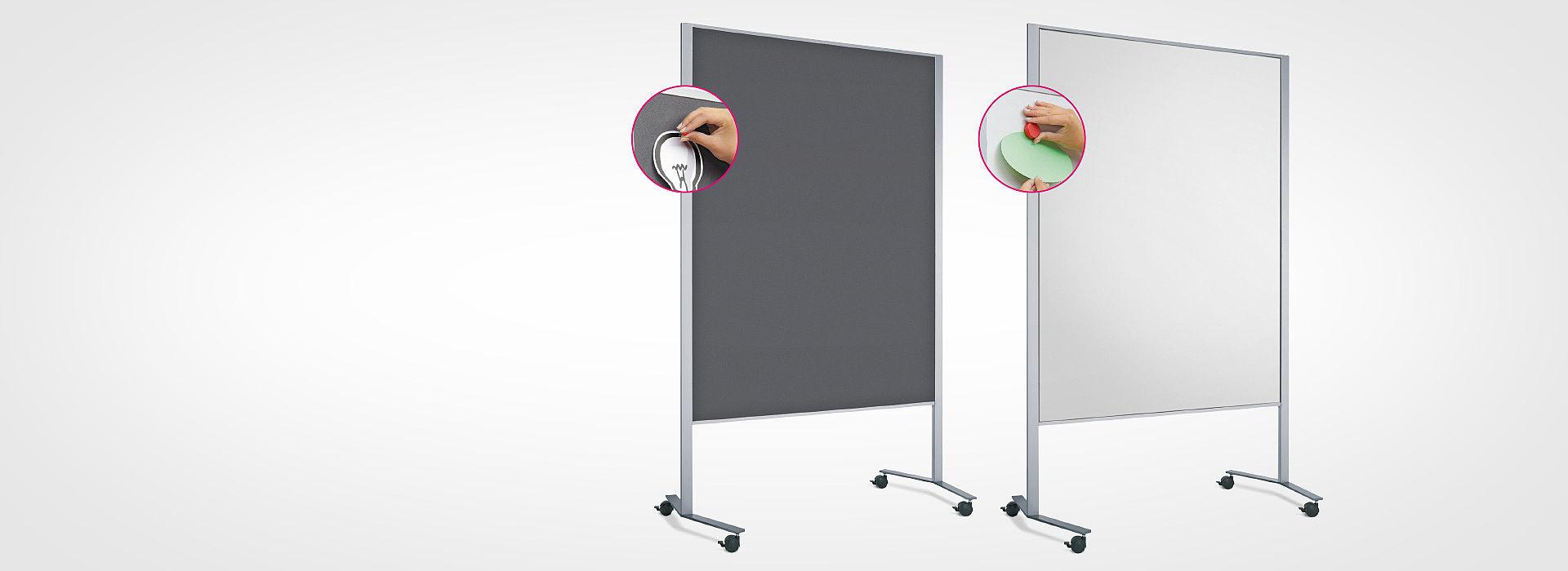 Bild: Schnelles Drehen der Tafelfläche für unterschiedliche Einsatzbereiche