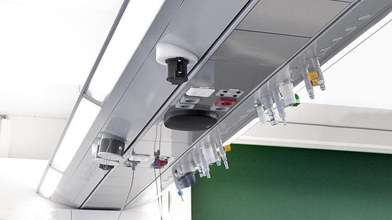 Bild: Integriertes Lichtsystem des Medienflügel
