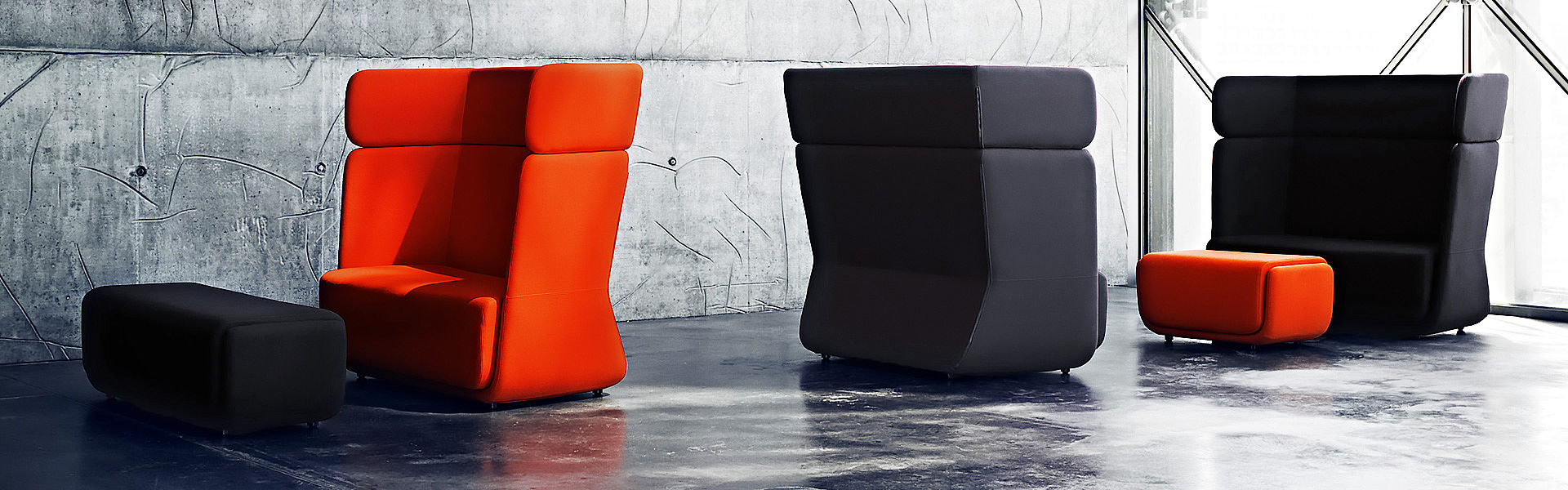Secret seating LUIS highback sofa anthracite
