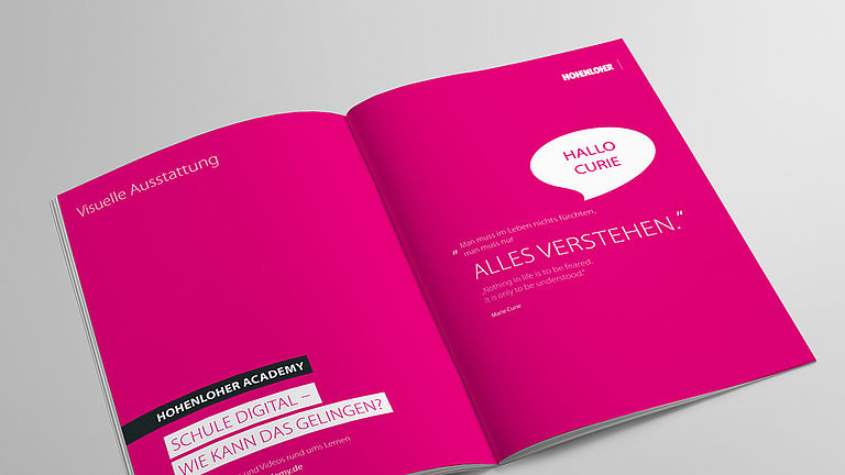 Bild: Visuelle Ausstattung Broschüre