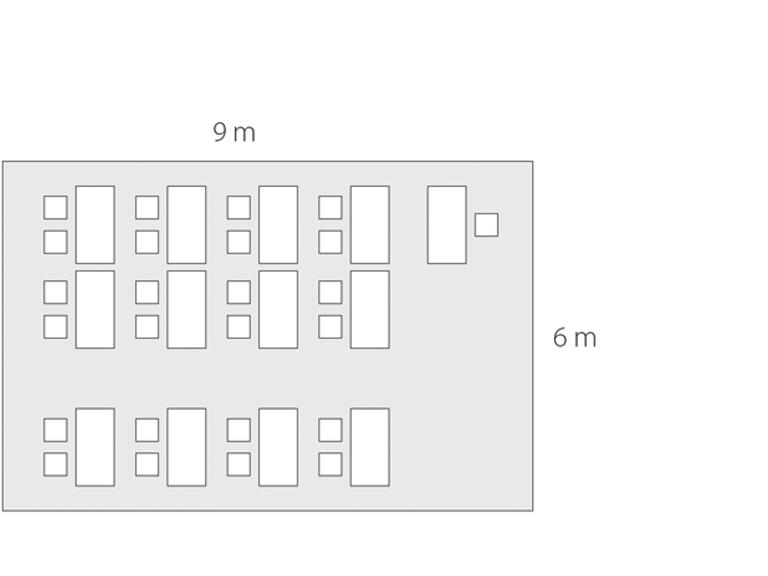 Bild: Raum mit 54 qm für 24 Personen