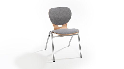 Bild: SEDIAMO® Ligno Stuhl mit Polsterung