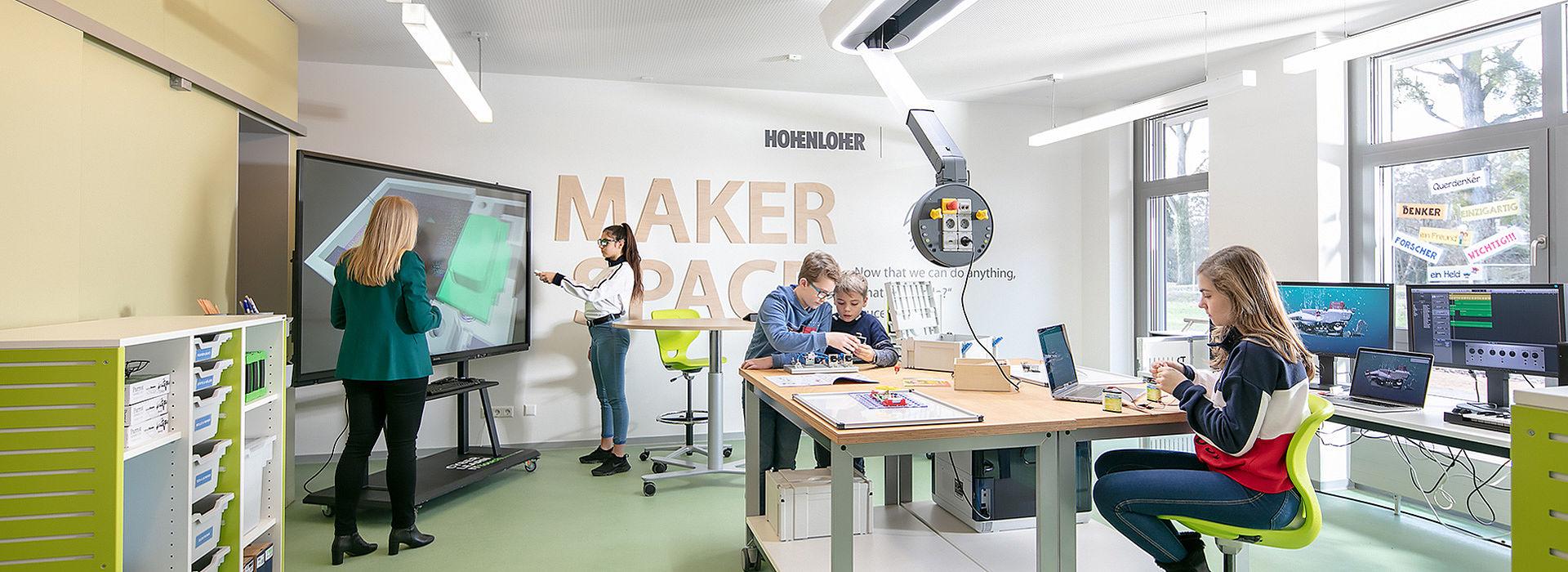 Bild: Co-kreatives Lernen im Makerspace