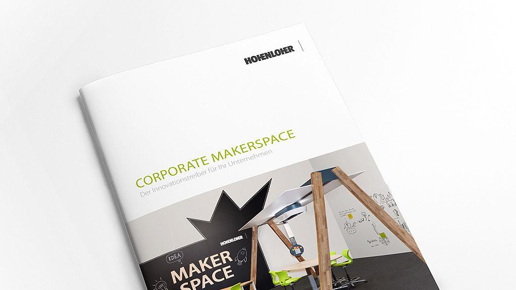 Bild: Corporate Makerspace Raumkonzept Broschüre