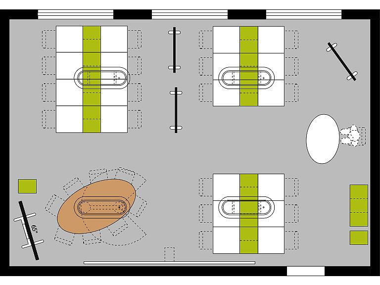Bild: Maker Space im Lernraum, Großgruppen