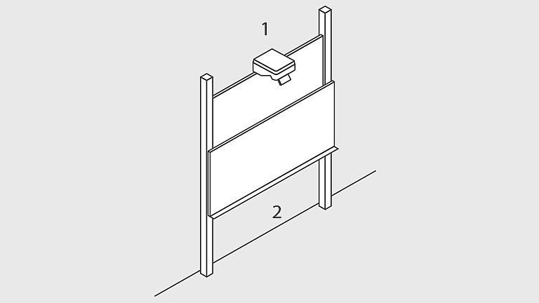 Bild: Pylonen-Doppelschiebetafel EB