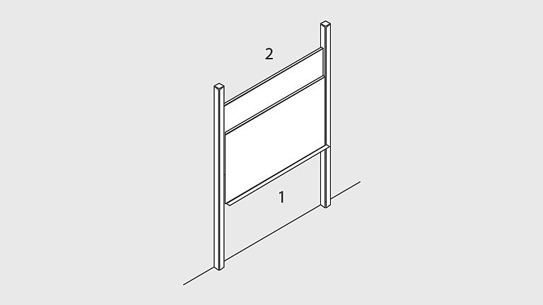 Bild: Pylonen-Doppelschiebetafel