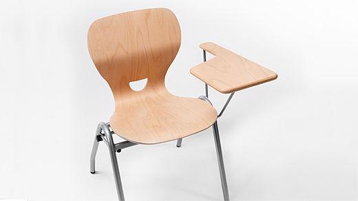 Bild: SEDIAMO® Ligno Stuhl mit Schreibstütze