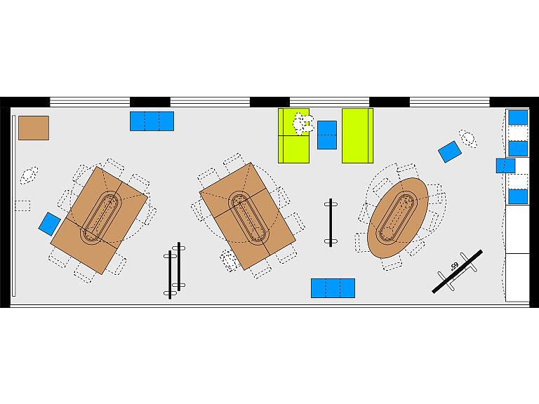 Bild: Planungsbeispiel Makerspace in der Bibliothek, Kleingruppen