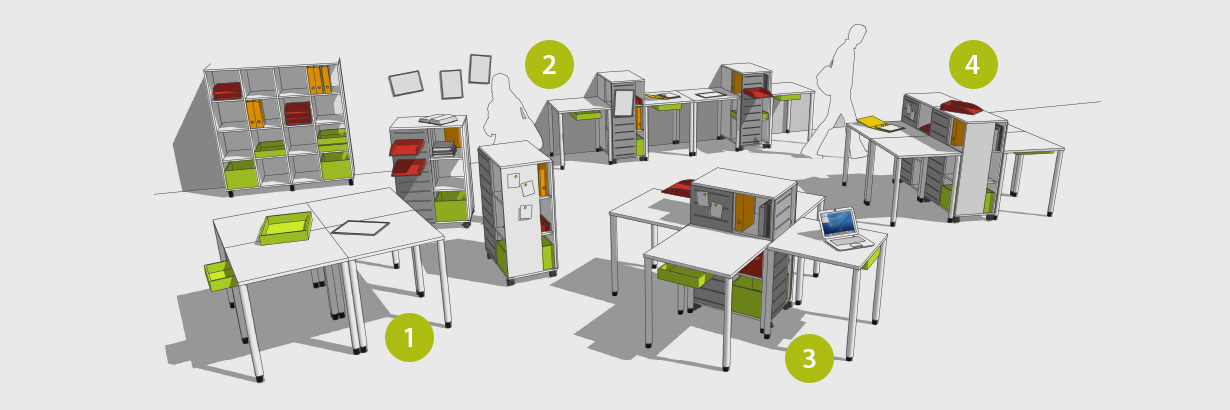 Various classroom arrangements